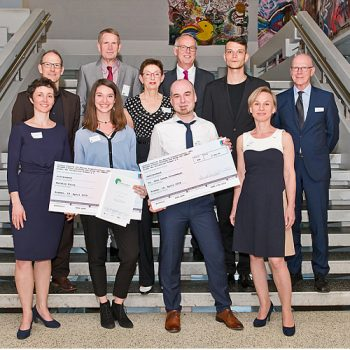Die Jury und die Preisträger des Campus Preises 2018