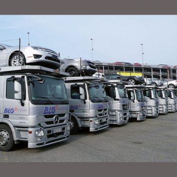 BLG Autotransporter vor dem Sicherheitstraining